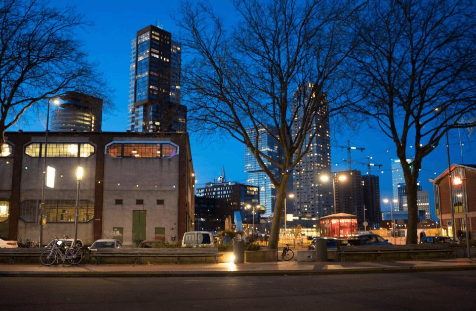 Uitzicht Bleij Pizza Rotterdam (afkomstig van website Bleij)
