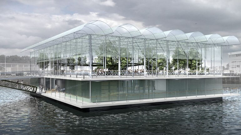 Floating Farm impressie door Architectenbureau Goldsmith